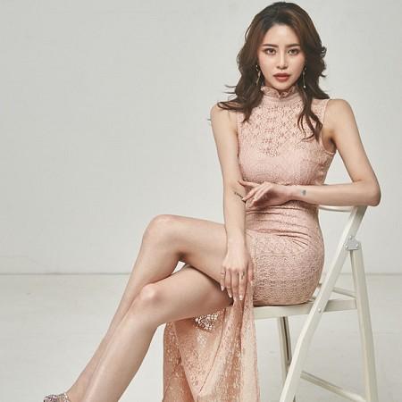 YF41226# 夏装新款韩版名媛气质长裙修身蕾丝包臀性感开叉连衣裙 服装批发女装货源