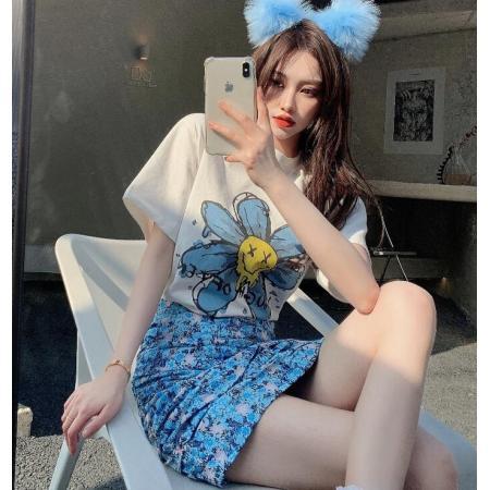 YF49243# 个性高腰显瘦复古百搭半身裙春夏季新款碎花a字裙短裙子女装ins潮