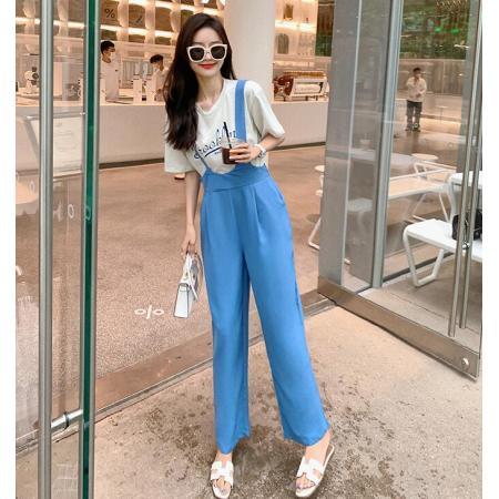 YF53223# 腿型高腰垂坠感背带休闲西装裤 服装批发女装直播货源