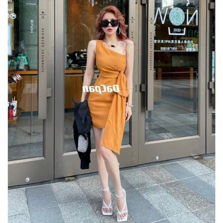 YF54502# 名媛女神气质连衣裙右露肩 服装批发女装直播货源