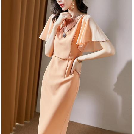 YF55689# 气质有女人味的连衣裙收腰显瘦女神范洋气轻熟风新款夏 服装批发女装直播货源
