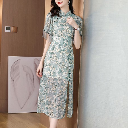 YF64911# 好货爆款热卖显瘦阿卡气质中国风 服装批发女装直播货源