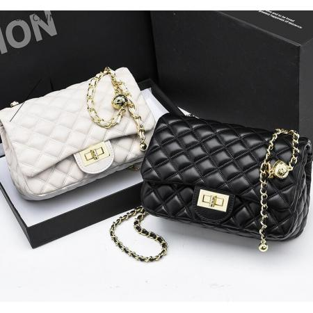 YF69514# 菱格链条包包女新款时尚小方包潮流百搭定制斜挎包一件代发 包包批发女包货源