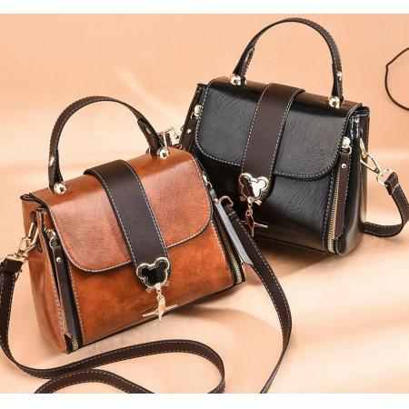 YF69533# 包包女新款复古小方包简约百搭手提PU女包简约时尚单肩斜跨包 包包批发女包货源